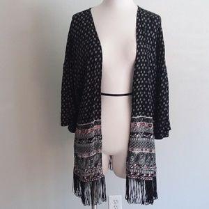 No Boundaries paisley print kimono cover up size L